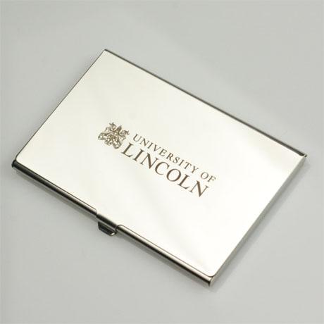 Memorabilia university of lincoln coa business card holder reheart Choice Image