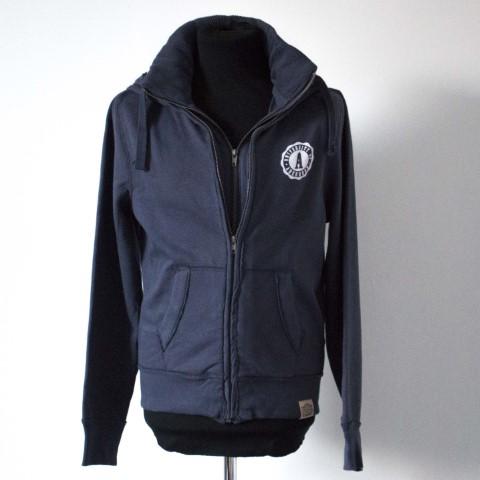 Fairtrade Unisex Double Zip Jacket Navy Blue