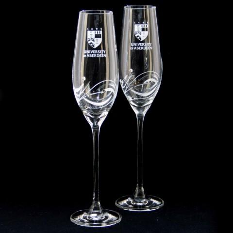 University Swarovski Champagne Flutes University Of Aberdeen